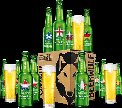 Heineken EURO 2020 Bierbox + Biergläser