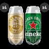 4 Birra Moretti Baffo d'Oro + 4 Heineken