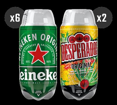 6 Heineken + 2 Desperados