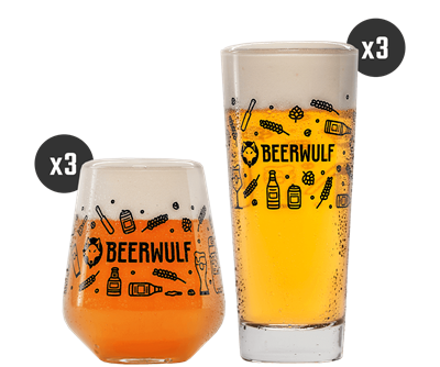 Beerwulf Mixed Beer Glass Case