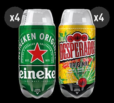 4 Heineken + 4 Desperados
